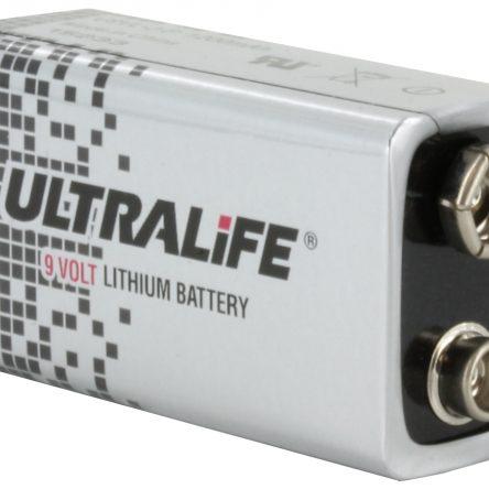 Ultralife U9VL-J-P Long Life Lithium 9V Battery